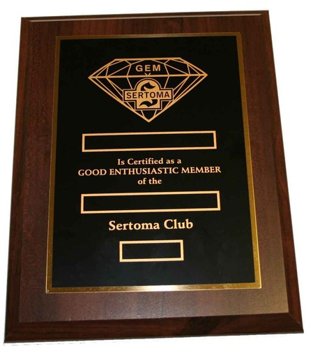 GEM Plaque
