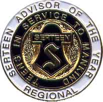 Region Serteen Advisor of the Year Pin 1457