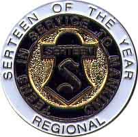 Region Serteen of the Year Pin