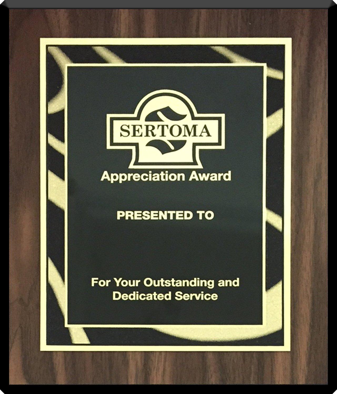 Appreciation Award Plaque