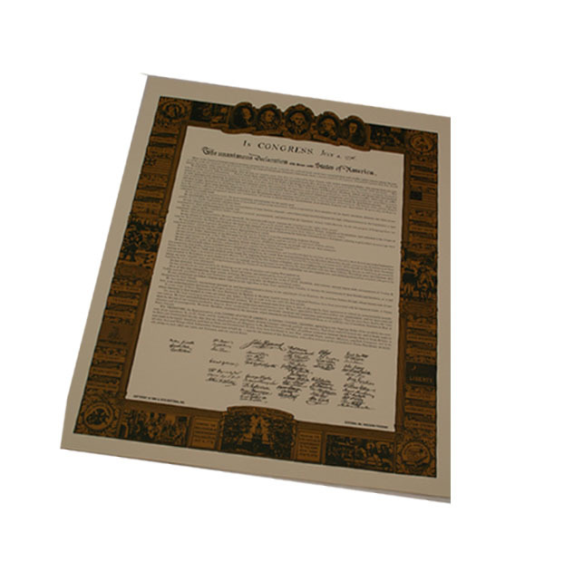 Declaration of Independence - Large 1702