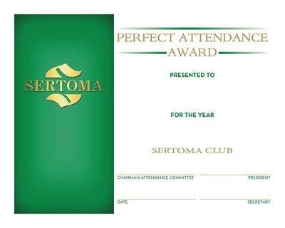 Perfect Attendance Certificate