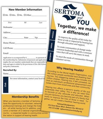 Sertoma Rack Card