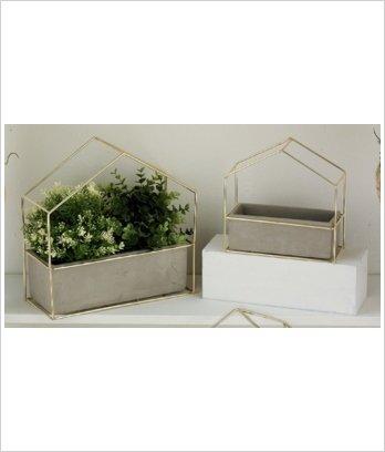 "Maison pour plantes ""Botanico"" set de 2"