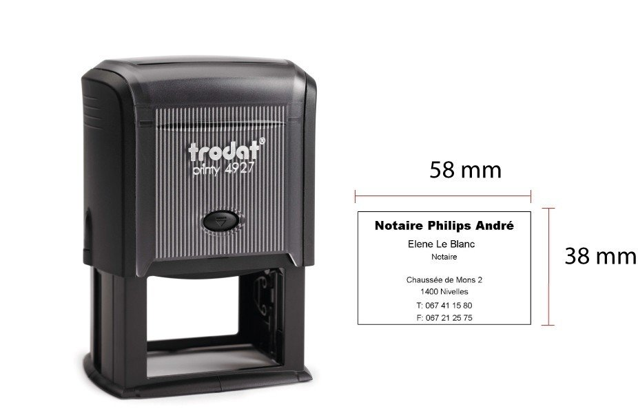 TRODAT 4927 - TESTO 9 RIGHE - MM 60x40 TRO4927