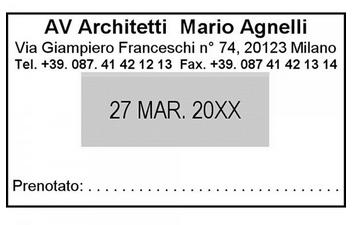 TRODAT DATARIO 5440 - TESTO 1+1RIGHE - MM 41x24