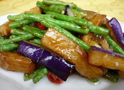 XCN【小厨娘】Eggplants love Green Bean 茄角之恋