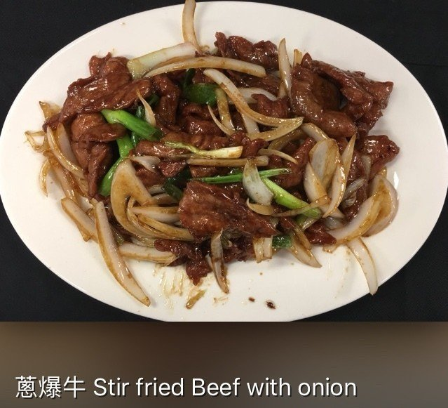 XSH【小上海】葱爆牛 Stir Fried Beef  with Onion(周一休息)