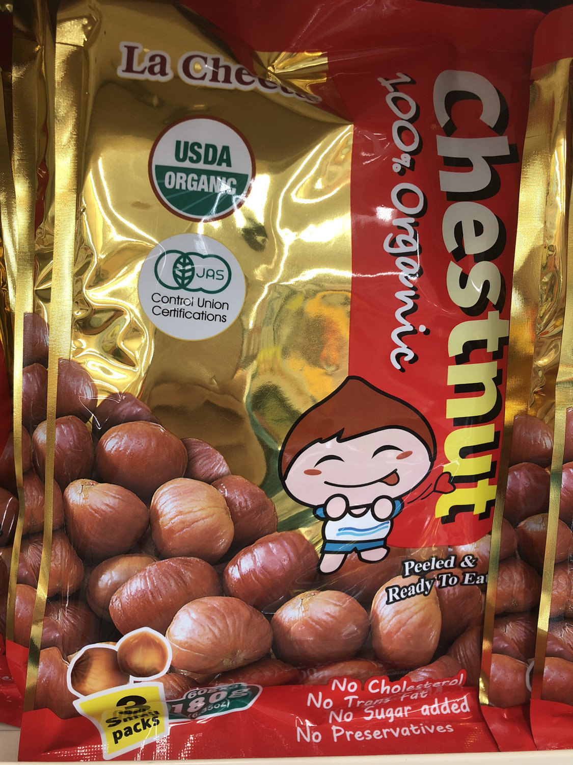 【Welfresh Grocery】100% ORGANIC CHESTNUT - LA CHEETA 有机甘栗(每天上午9点截单)