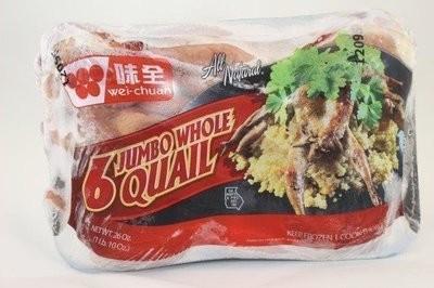 【Welfresh_Meat】JUMBO WHOLE QUAIL 鹌鹑, 1 ea(每天上午9点截单)