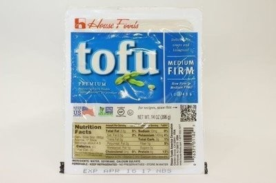 【Welfresh Frozen】HSE TOFU MED FIRM BLUE 27560 Housefood tofu中豆腐, 14 oz/ea(每天上午9点截单)