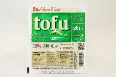 【Welfresh Frozen】HSE TOFU SOFT GREEN 27563 Housefood tofu嫩豆腐, 14 oz/ea(每天上午9点截单)