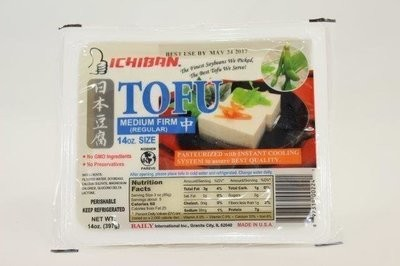 【Welfresh Frozen】ICHIBAN JAPANESE TOFU MEDIUM FIRM 一级棒日本中豆腐, 14 oz/ea(每天上午9点截单)