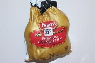 【Welfresh_Meat】TYSON REMIUM ROCK CORNISH GAME HEN 童子鸡, 1 ea(每天上午9点截单)