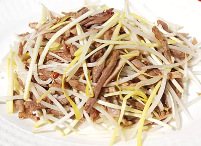 DHHX【东海海鲜】韭菜银芽炒鸭丝 Sauteed Duck with Chive and Bean Sprouts