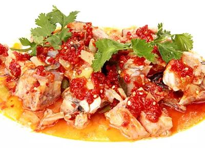 DHHX【东海海鲜】剁椒三文鱼头 Steamed Salmon Head with Chili Pepper