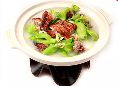 DHHX【东海海鲜】芥菜火鸭煲 Roasted Duck with Mustard Green Pot