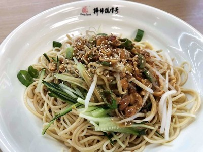BBJ【棒棒鸡传奇】麻酱鸡丝凉面 Cold Noddles with Shredded Chicken breast and Sesame Paste