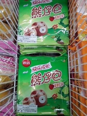【Welfresh Frozen】Animal Style Bear Bun 思念熊仔包蜜香红豆 300g(每天上午9点截单)