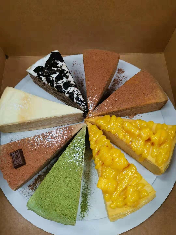 MM【MangoMango】(买3份以上千层蛋糕再送1份千层!并赠饮料卡)芒果/榴莲/绿茶/奥利奥/巧克力千层/咖啡千层