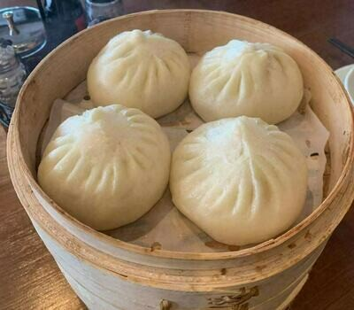 XZH【湘浙汇】鲜肉中包4只 Steamed Bun with Meat Stuffing 4 Pcs (每周一休息)