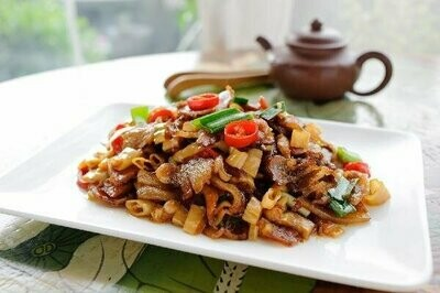 ZWHN【滋味湖南】笋干炒腊肉/鸡胗 Sauteed Pork with Dried Bamboo shoot