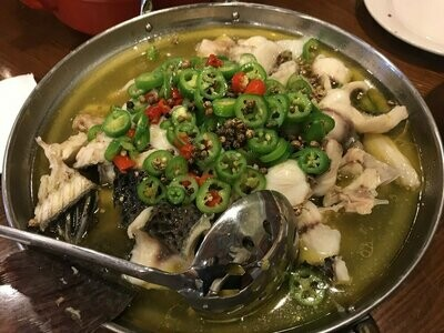 ZWCD【滋味成都】藤椒活鱼 Boiled Fresh Fish with Green Pepper Sauce (晚餐不配饭)