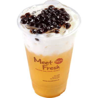 XYX【鲜芋仙】珍珠鮮奶綠 Fresh Milk Green Tea w/Boba (仅限Houston本地购买)