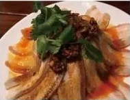 KLM【坤拉面】蒜泥白肉 Sliced Pork with Garlic Sauce (每周三休息)
