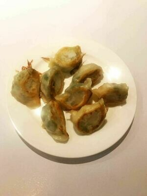 KLM【坤拉面】大虾韭菜煎饺 Shrimp&Chives Fried Dumpling (每周三休息)