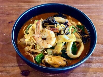 【Asia Blue】韩式三鲜炒马面 Jamppong, Spicy Noodle Soup