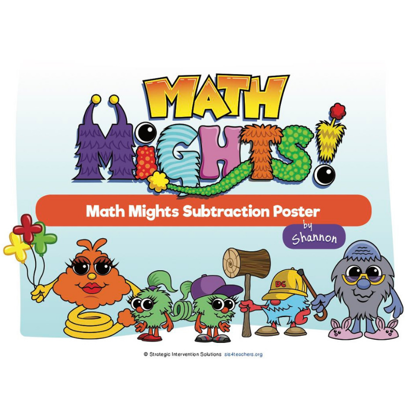 Math Mights 8-in-1 Flip Chart: Subtraction Strategies