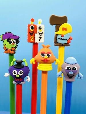 Math Mights Pencil Toppers