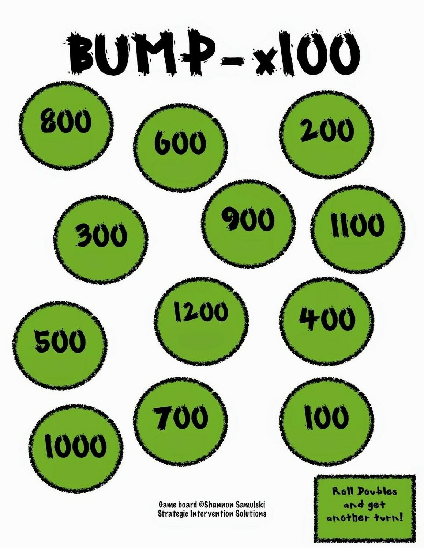 Bump Multiplication x100 Game Board