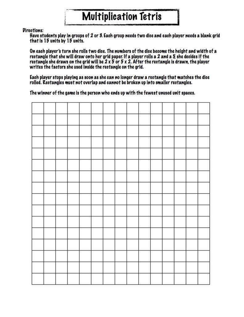 Multiplication Tetris 00026