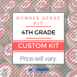 4th Grade Number Sense Kit - Custom NUMSEN-4-C