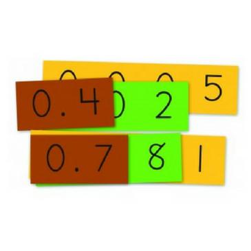 Place Value Decimal Strips (Student Size)