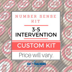3-5 Intervention Number Sense Kit - CUSTOM 3-5 NUM SENSE C