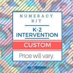 K-2 Intervention Number Sense Kit - CUSTOM NUMKIT-K2-C