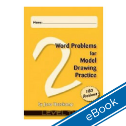 Word Problems for Model Drawing: Level 2 + Solution Key (eBook) WPL2-DD