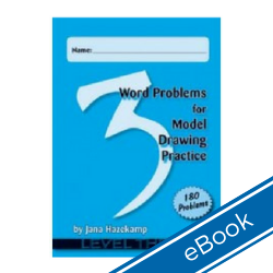 Word Problems for Model Drawing: Level 3 + Solution Key (eBook) WPL3-DD