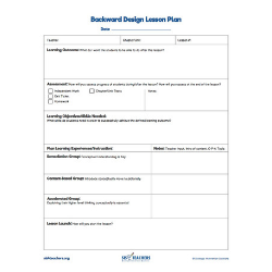 Backwards Design Template (Fillable PDF) 00051