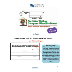 Professor Barble Conquers Word Problems: Model Drawing Protocol Booklet 00053
