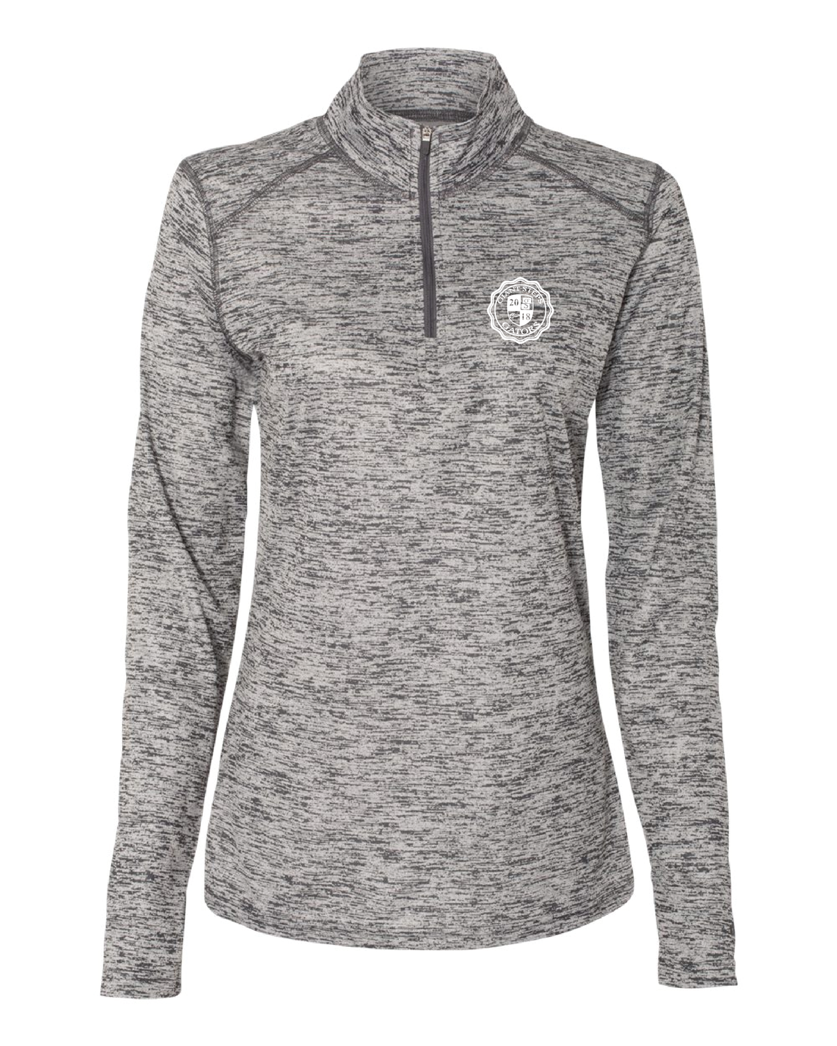 Ladies Tonal Blend Quarter-Zip Pullover