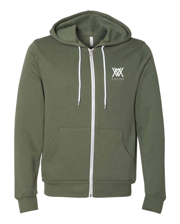Bella + Canvas - Unisex Full-Zip Hooded Sweatshirt