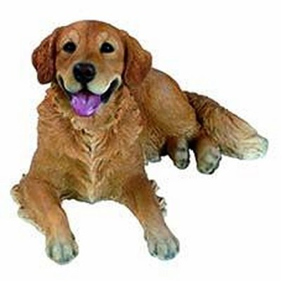STATUA GOLDEN RETRIEVER DECORAZIONE 63x39xh35 cm vetro resina