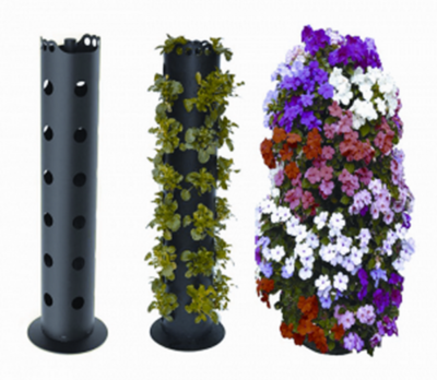 TORRE FIORITA Vaso x 30 piante h 80 cm petunie, gerani, fragole, aromatiche
