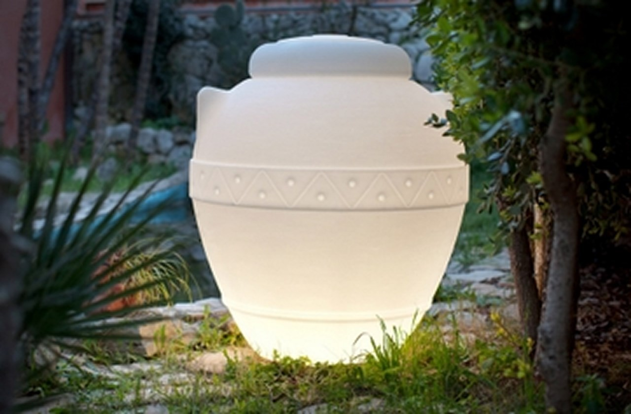 Vaso Orcio luminoso 100 x h 125 cm in resina