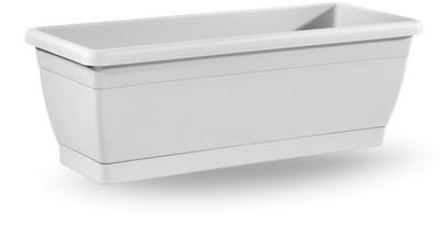 Balconetta liscia con sottovaso da 60 cm in plastica