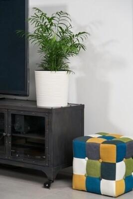 Vaso tondo rigato con interno estraibile 30xh 30 cm